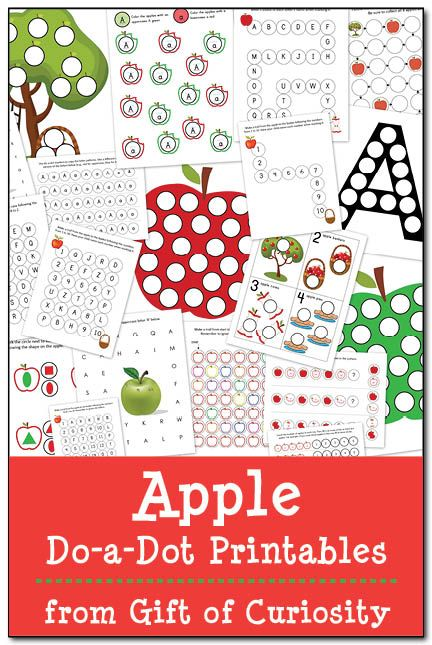 Free Apple Do-a-Dot Printables from Gift of Curiosity