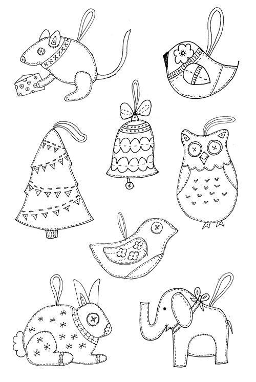 Felt Christmas ornament templates. by temperance