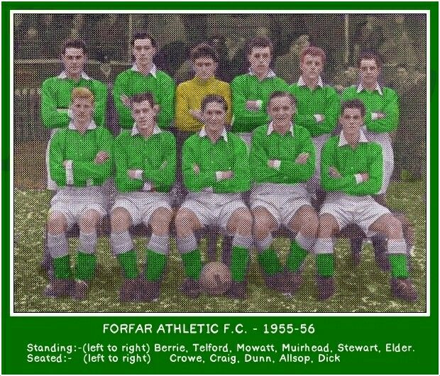 Forfar Athletic team group in 1955-56.