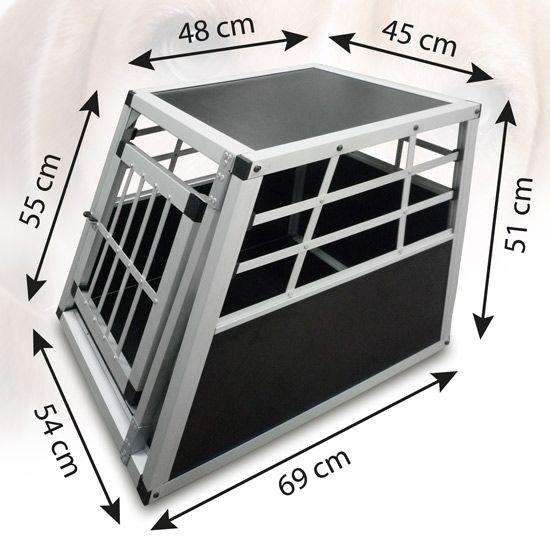 Hundetransportbox Alu Größe S