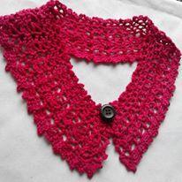 Crochet Collar Simply Red
