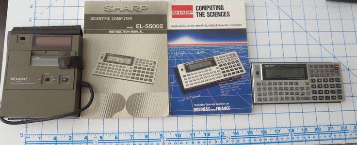 Sharp EL-5500II BASIC Programmable Scientific Calculator + CE-126P Printer #Sharp