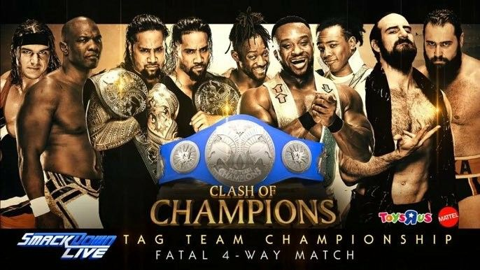 The Uso (c) vs New Days vs Rusev & Aiden English vs Chad Gable & Shelton Benjamin for SD Tag Team Champion