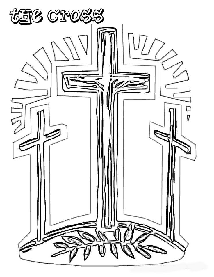 cross Free Coloring Pages Christian