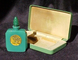 French Art Deco Commercial Perfume Bottle by Julien Viard. Renaud 'Sweet Pea'. 1925: Perfume Bottle