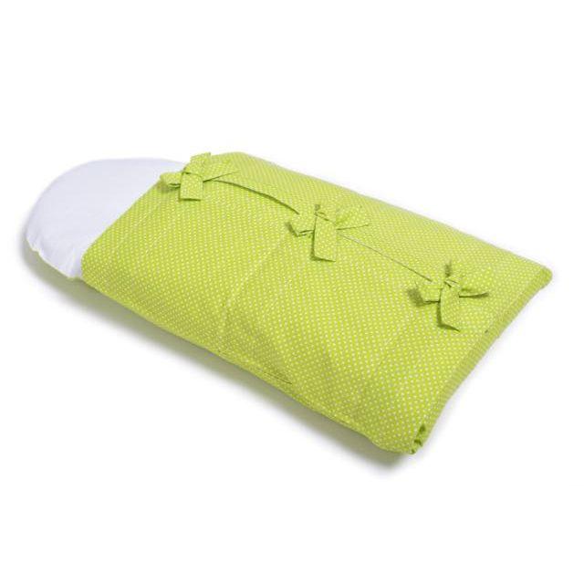 Lime dots swaddling bag – Swaddling