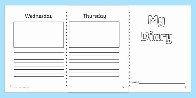 Diary Entry Template Word Elegant 7 Day Diary Writing Frame Esl Diary Writing Resources Diary Writing Writing Templates Diary Template