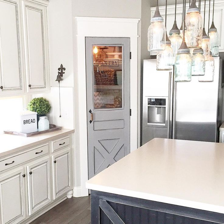 Kitchen Pantry Lighting: Rustic Farmhouse, Farm House And Interior Barn Doors