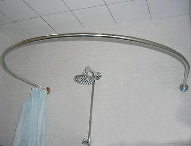 Stainless Steel Curved Shower Rod Circular U Shaped Shower Curtain Rod U Shaped L Shaped Shower Curtain Rod Round Shower Curtain Rod Shower Curtain Rods Cool Curtains