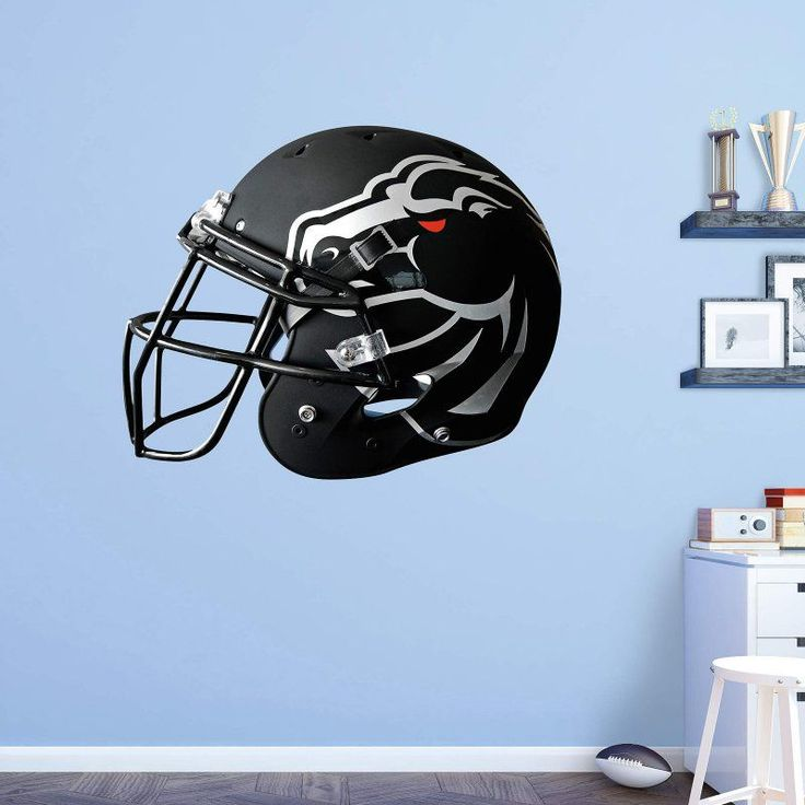 Fathead NCAA Boise State Broncos Black Helmet Wall Decal   41 40075 Pictures