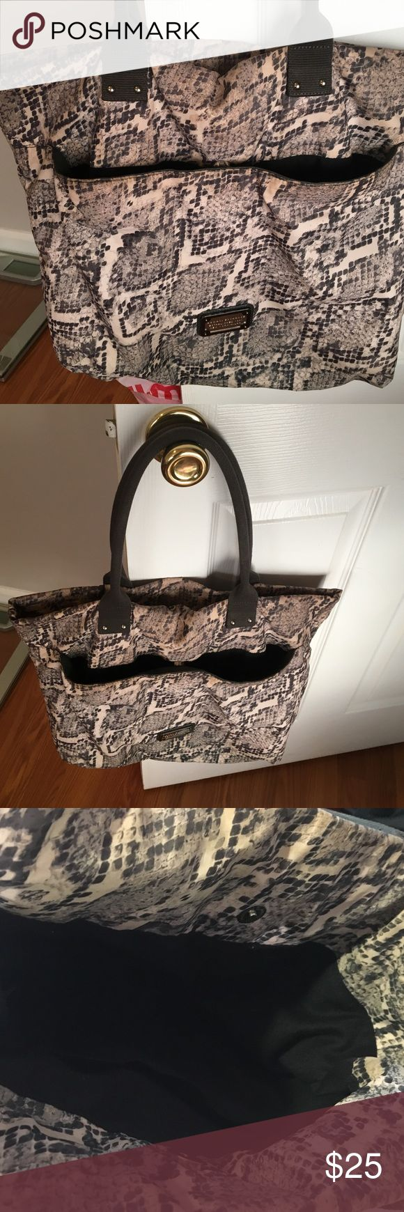 Armani exchange tote bag Snake skin pattern total bag. Lightly used. Pocket on the front and 2 inside pockets. A/X Armani Exchange Bags Totes
