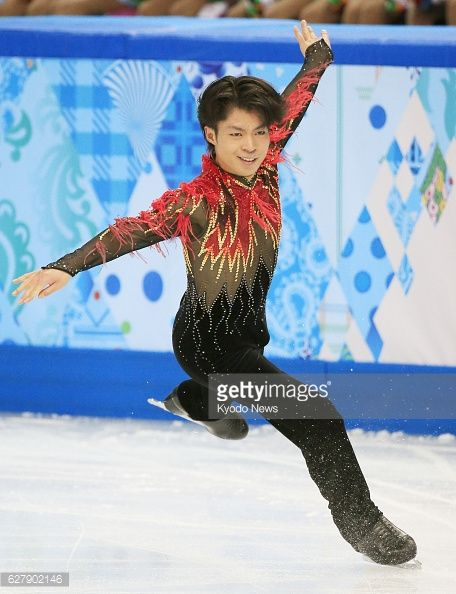SOCHI, Russia - Tatsuki Machida of Japan, winner of the Cup of Russia and Skate America, performs during the men's free skating segment of the Winter Olympics figure skating team event at the Iceberg Skating Palace in Sochi, Russia, on Feb. 9, 2014. Machida finished third with a score of 165.85 and Japan came in fifth place. (Photo by Kyodo News via Getty Images)