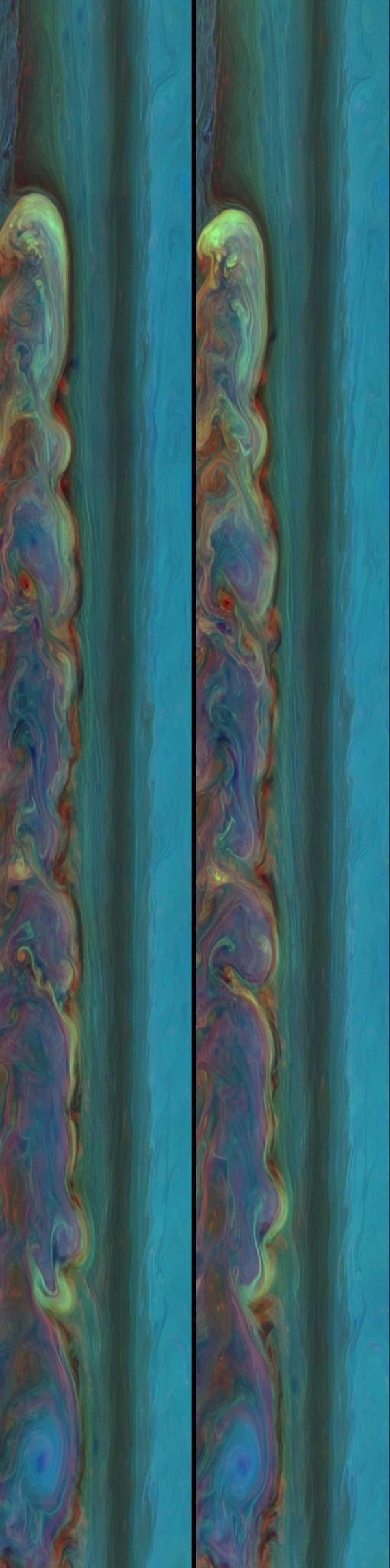 Saturn storm tantalizing panoramas