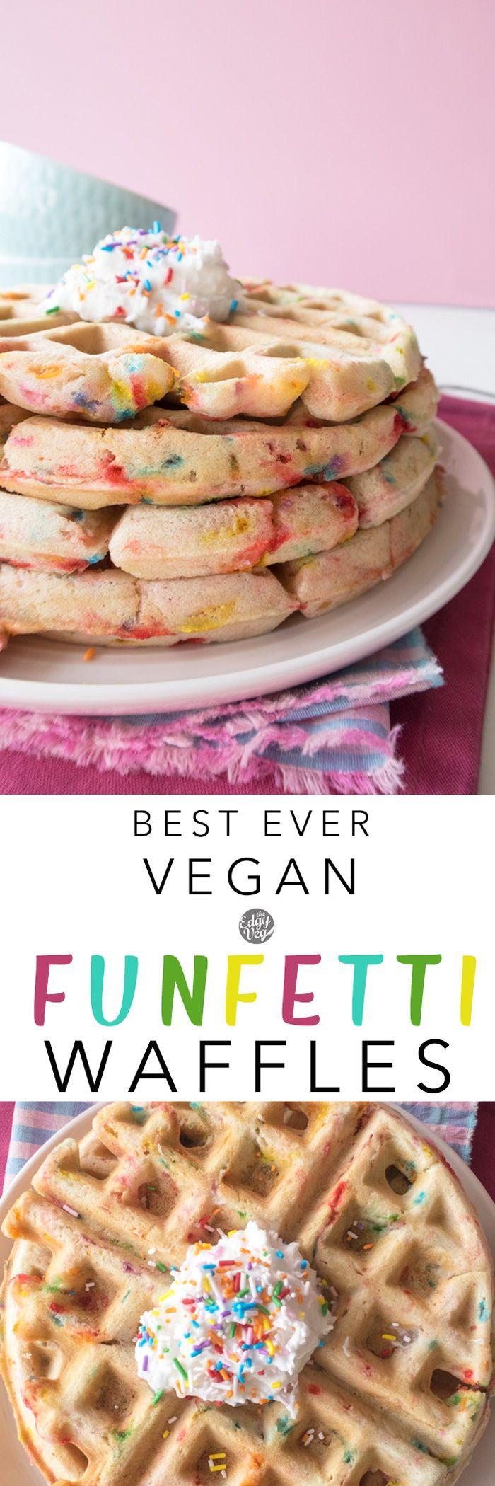 Vegan Funfetti Waffles | Vegan Waffles