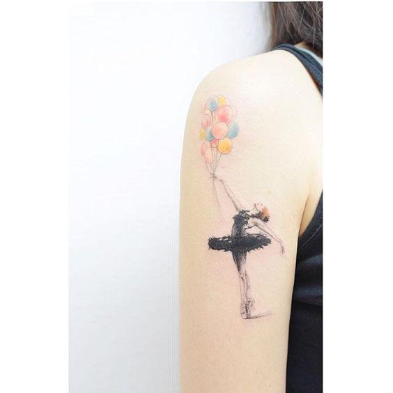 tatuajes-de-bailarinas-globos.jpg (564×564)
