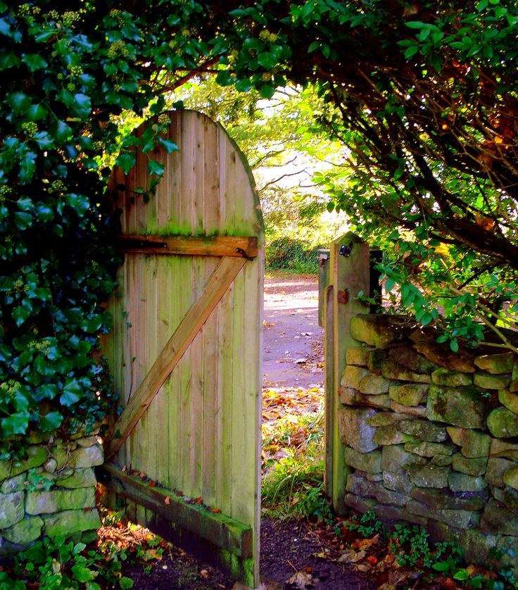 cute style for a simple wooden gate