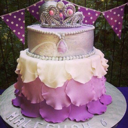 Purple Sofia the First inspired cake