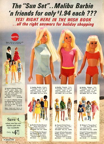 Malibu Barbie...1971- Sears Catalog