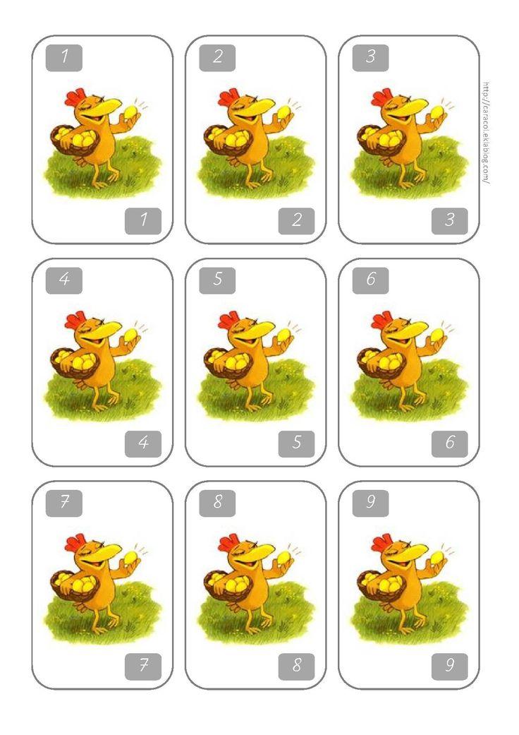 Jeu Un Deux Trois Poule Cp Ce1 Caracolus Enseigner Pinterest Montessori Easter And Sons
