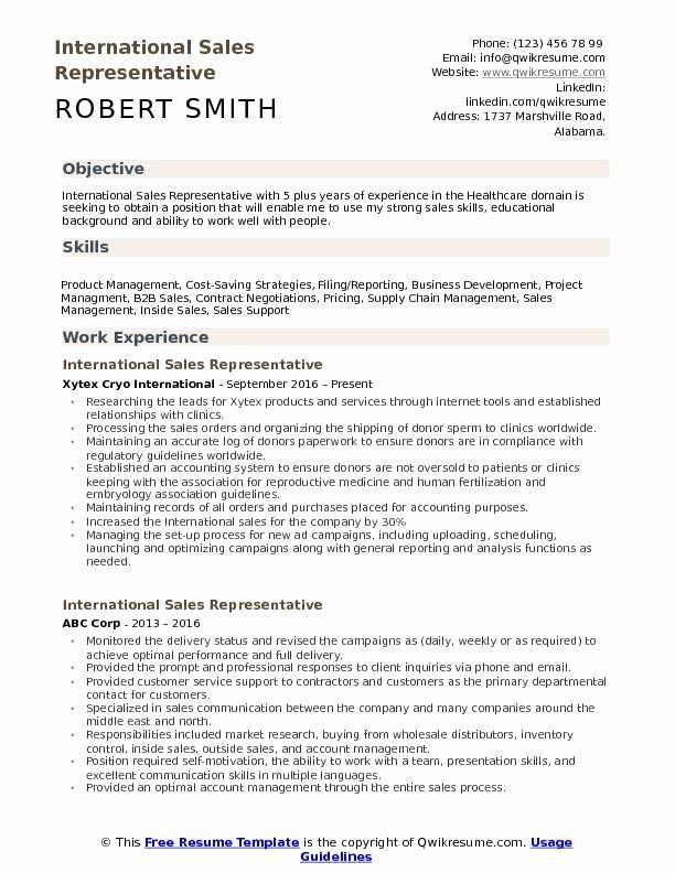 Business Development Representative Resume Luxury International Sales Representative Resume Samples Job Resume Examples Sales Resume Examples Resume Skills