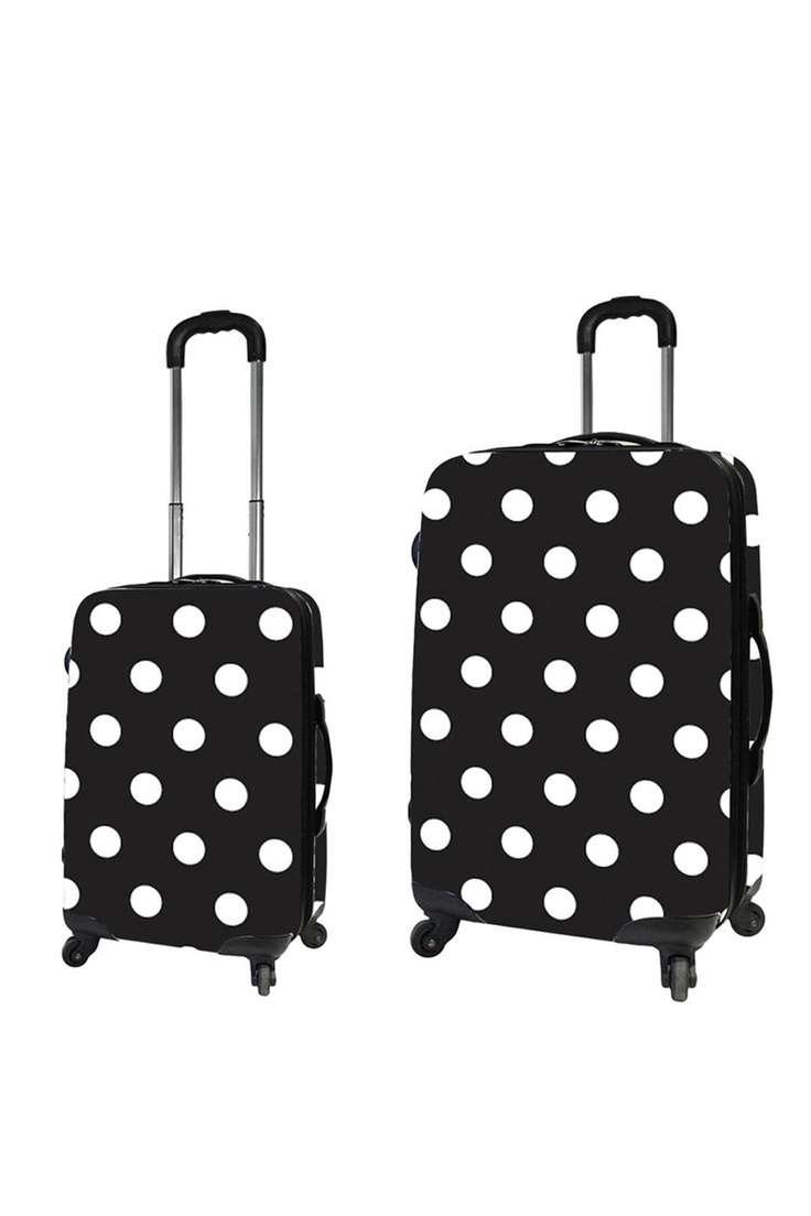 Polka Dot suitcases.  Definitely no trouble spotting these!