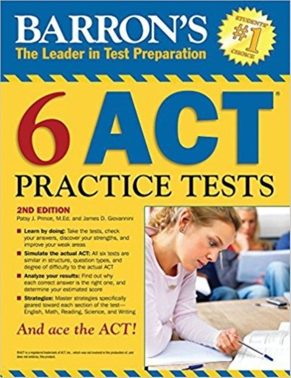 Best 25 act practice test ideas on pinterest act study guide barrons 6 act practice tests 2nd edition new paperback fandeluxe Gallery