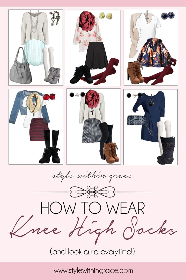 Knee high socks are perfect for the in-between and colder weather and can be worn in so many different ways. Here's how...