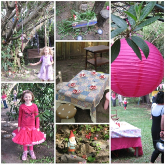 Collage of fun fairy party by Anita Lamb-Nicholls, my incredibly talented friend.