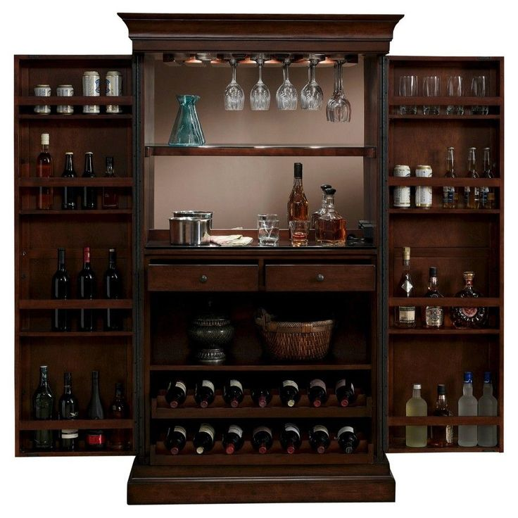 Best Angelina Wine Cabinet Wood Chestnut American Heritage 640 x 480