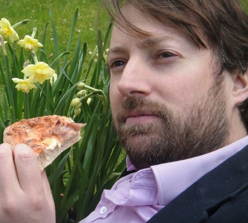 some people ship jim and pam, others ship ross and rachel, but david mitchell and pizza will always be the perfect couple