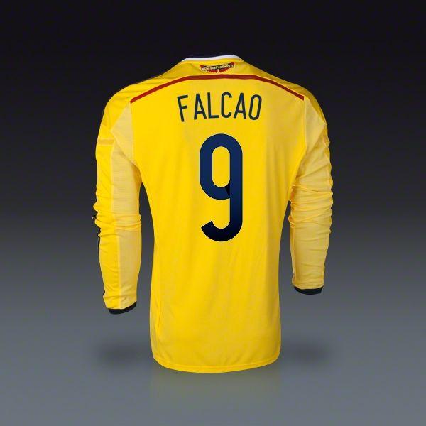 adidas Radamel Falcao Colombia Long Sleeve Home Jersey