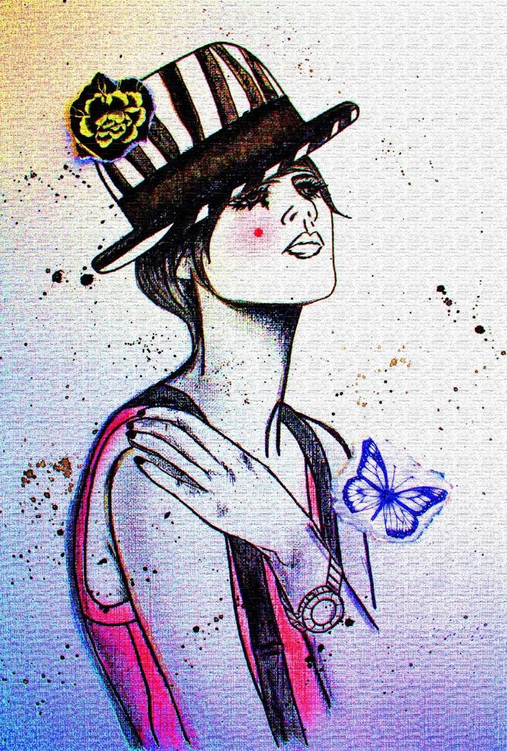 girl hat art