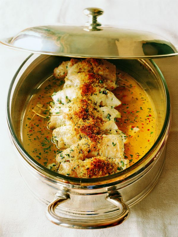 Just wanted to share this delicious recipe from Lidia Bastianich with you - Buon Gusto! Breast of Chicken In A Light Lemon-Herb Sauce
