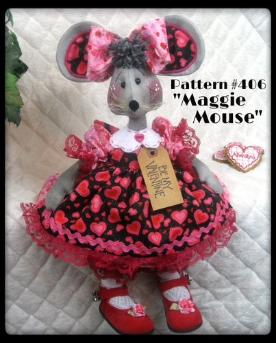 """♥♥ Primitive Raggedy """"Maggie Mouse"""" Pattern 406 ♥♥ from Ginger Creek Crossing   eBay"""