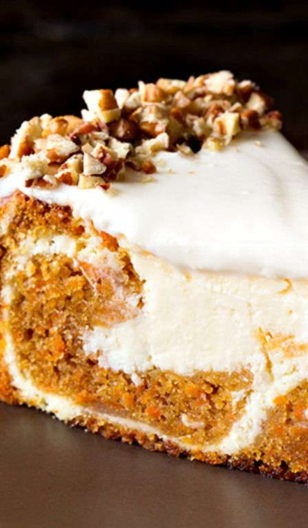 Carrot Cake Cheesecake Recipe ~ utterly divine!