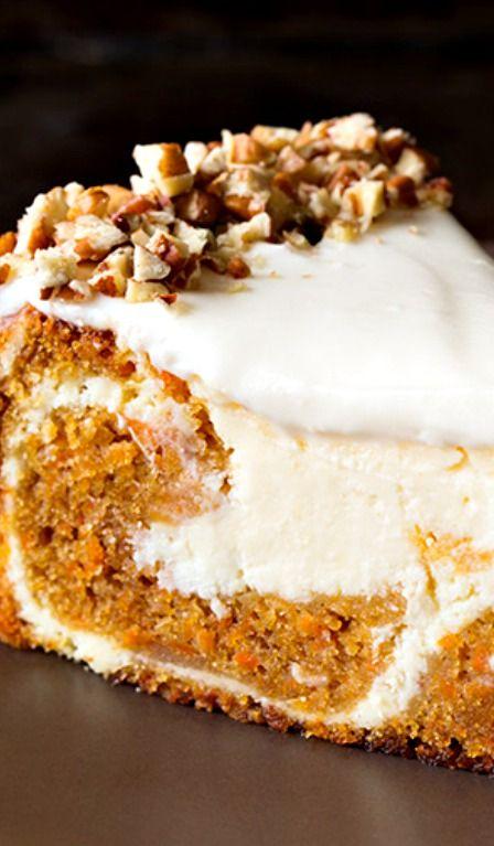 Carrot Cake Cheesecake Recipe ~ utterly divine!