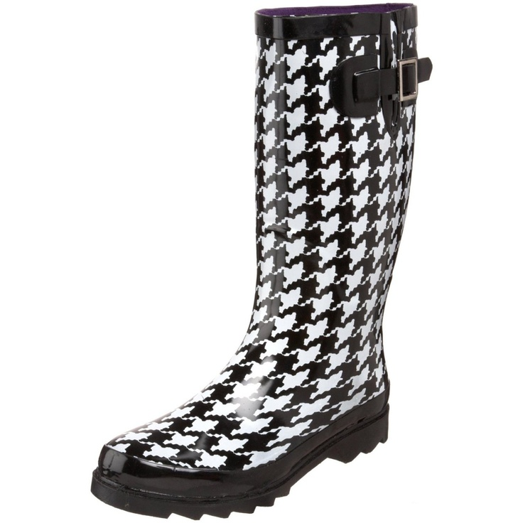 Western Chief Women`s Houndstooth Knee-High Boot