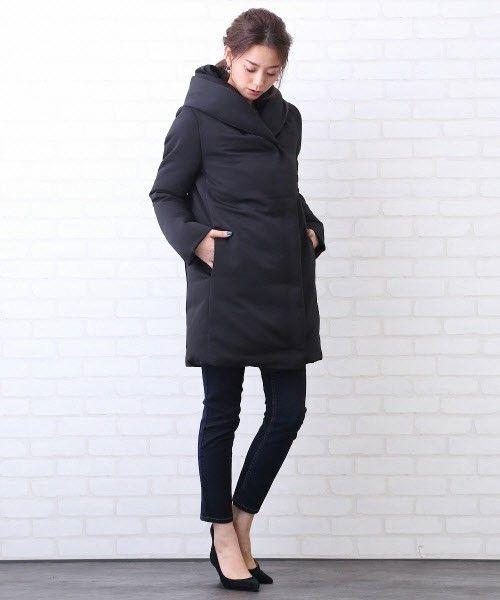 Rouge vif(ルージュヴィフ)のショールカラーダウンコート(ダウンジャケット/コート) ブラック