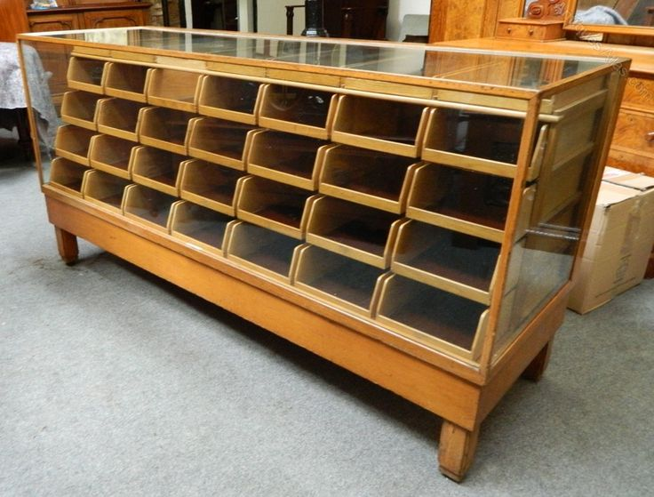 Large Haberdashery Shop Counter By Harris & Sheldo - Antiques Atlas