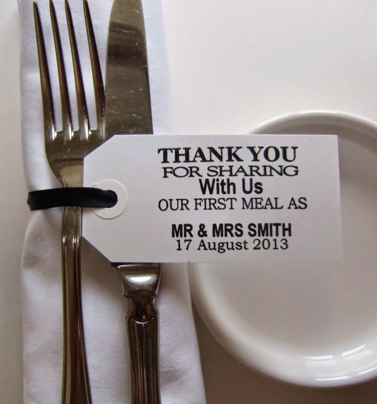 Costa Rica Wedding Ideas - Favors -  Fork tags - Great Destination Wedding Favor.