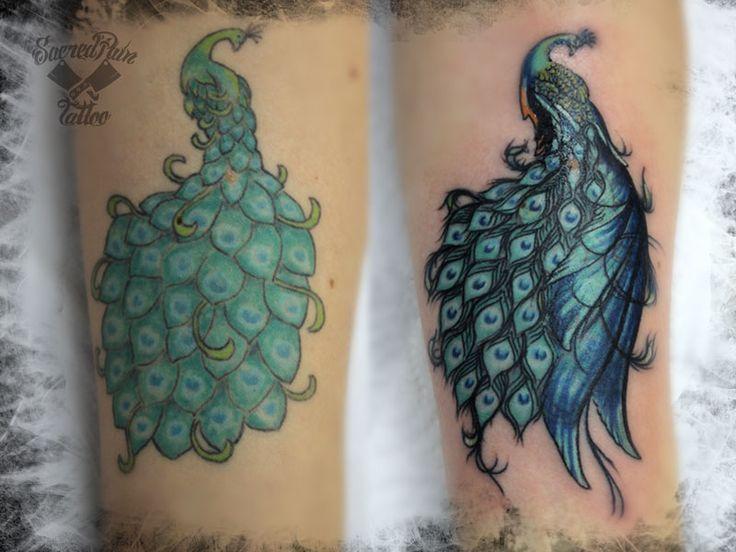 Arreglo de tatuaje pavo real by Emanuele Persanti