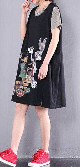 black animal print maternity dresses stylish fine cotton casual dress