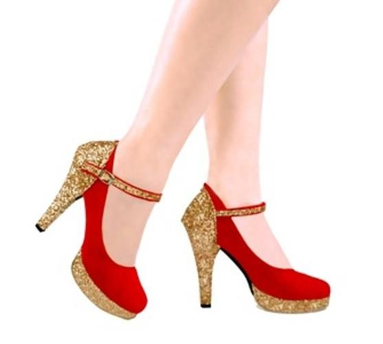 Sepatu Sandal Heegh Heels Merah Cantik Terbaru Murah GRNS02