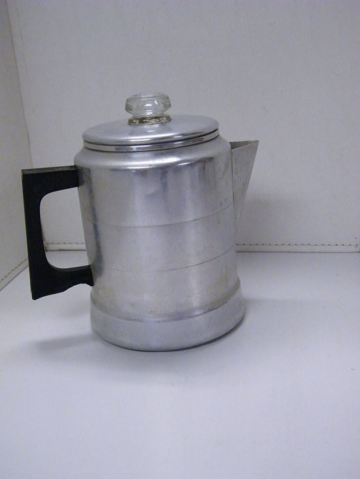 Vintage comet aluminum percolator coffee pot maker stove for Best coffee percolator