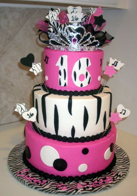 Cake Ideas For A 16th Birthday Party : 96 best images about 16th Birthday Party on Pinterest ...