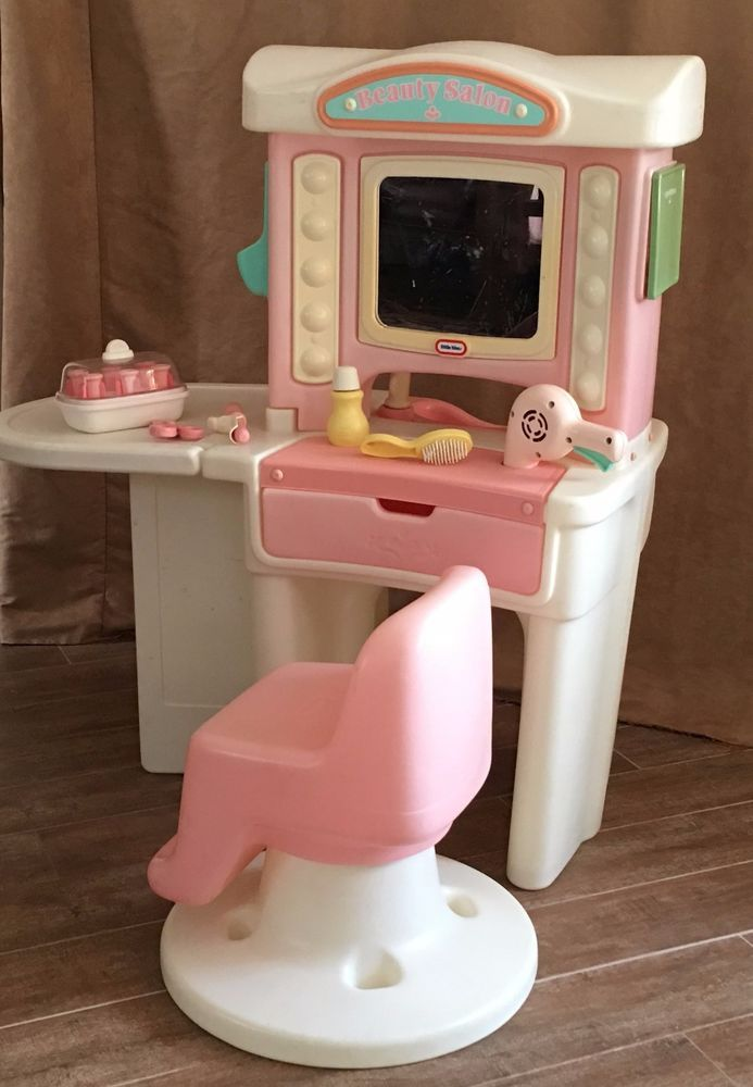 Little Tikes Beauty Hair Salon Sink Vanity Mirror Swivel