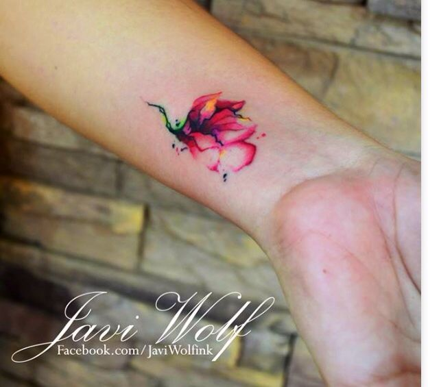 Best Geometric Tattoo With Colour Ideas On Pinterest - Minimal geometric tattoos brought to life with bursts of colour
