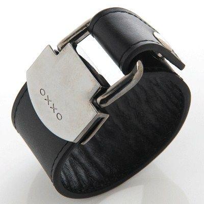 OXXO Design - Armband Läder Svart  3,5cm  499kr