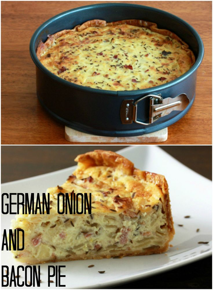 German Onion & Bacon Pie {Zwiebelkuchen}