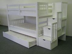 Wählen Sie das richtige Hochbett mit Treppe fürs Kinderzimmer - das richtige hochbett mit treppe im kinderzimmer weiß lagerraum kids room multi level bed